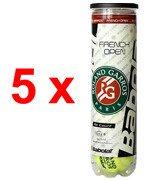 5 x piłki tenisowe BABOLAT ALL COURT  French Open Roland Garros (4szt.)