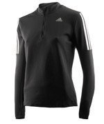 bluza do biegania damska ADIDAS RESPONSE LONG SLEEVE ZIP TEE / AX6592