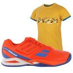 buty tenisowe męskie BABOLAT PROPULSE TEAM CLAY + koszulka BABOLAT / 30S16446
