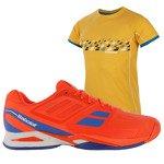 buty tenisowe męskie BABOLAT PROPULSE TEAM + koszulka BABOLAT / 30S16442-104