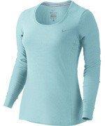 koszulka do biegania damska NIKE DRI-FIT CONTOUR LONG SLEEVE / 644707-437