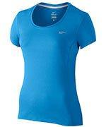 koszulka do biegania damska NIKE DRI-FIT CONTOUR SHORT SLEEVE / 644694-435