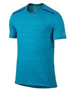 koszulka do biegania męska NIKE DRI-FIT COOL TAILWIND STRIPE SHORT SLEEVE  / 724809-418