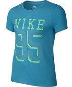 koszulka sportowa dziewczęca NIKE COTTON BRAND MARK TEE / 715074-407