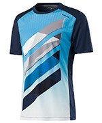 koszulka tenisowa chłopięca HEAD VISION STRIPED CREW SHIRT / 816037 NV