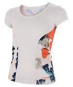 koszulka tenisowa dziewczęca HEAD VISION GRAPHIC SHIRT / 816097 WHCO