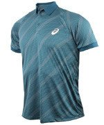 koszulka tenisowa męska ASICS CLUB GRAPHIC SHORT SLEEVE POLO / 130237-0179
