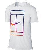 koszulka tenisowa męska NIKE IRRIDESCENT COURT TEE / 803880-100