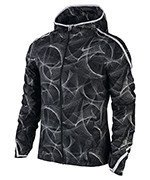 kurtka do biegania damska NIKE SHIELD IMPOSSIBLY LIGHT JACKET HOODED PRINT / 799847-010