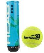 piłki tenisowe HEAD PRO LOGO SPORTCLUB.COM.PL x4 / 571221