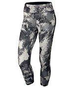 spodnie do biegania damskie 3/4 NIKE POWER  ESSENTIAL CROP PRINT TIGHT / 848002-010