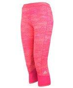spodnie sportowe damskie 3/4 ADIDAS TECHFIT CAPRI PRINTED HEATHER / AJ2270