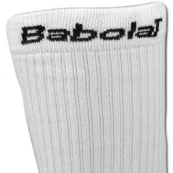 Skarpety tenisowe BABOLAT TEAM SINGLE WHITE (1 para)