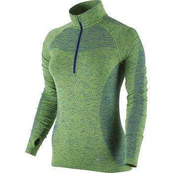 bluza do biegania damska NIKE DRI-FIT KNIT 1/2 ZIP / 719469-455