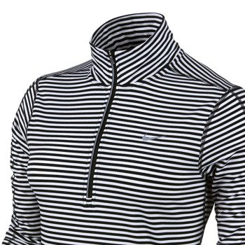 bluza do biegania damska NIKE ELEMENT STRIPE 1/2 ZIP / 645648-010