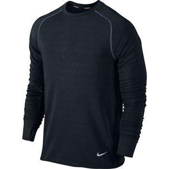 bluza do biegania męska NIKE DRI-FIT FEATHER FLEECE CREW / 598973-010