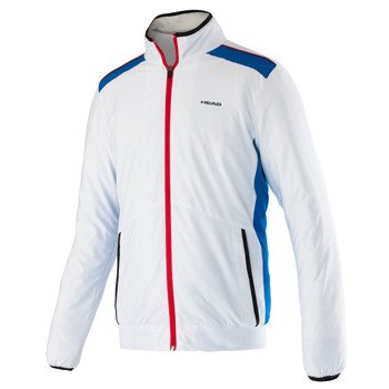 bluza tenisowa chłopięca HEAD CLUB JACKET / 816025 WH