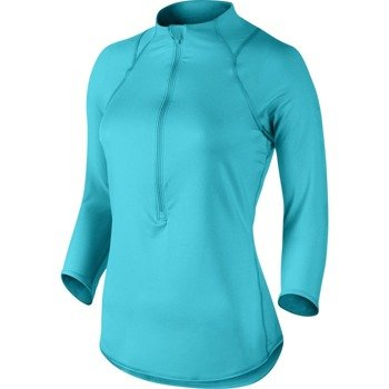 bluza tenisowa damska NIKE BASELINE 1/2 ZIP TOP / 546075-418