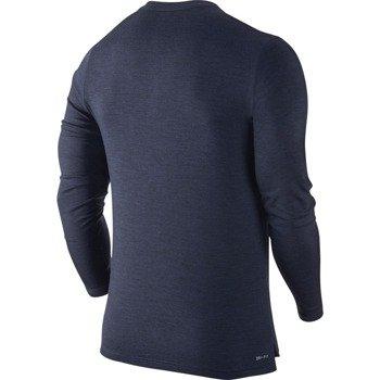 bluza tenisowa męska NIKE LONGSLEEVE WOOL HENLEY / 631641-410