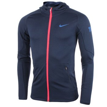 bluza tenisowa męska NIKE PRACTICE FULL ZIP KNIT HOODY / 620795-410
