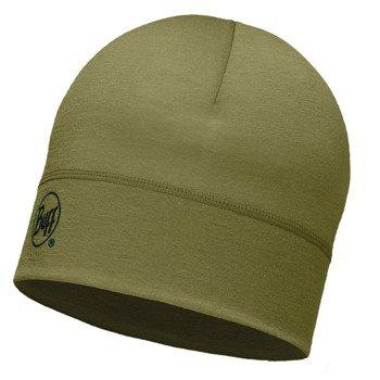 czapka do biegania BUFF MERINO WOOL 1 LAYER HAT BUFF SOLID LIGHT / 113013.850.10