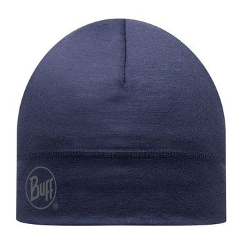 czapka do biegania BUFF MERINO WOOL HAT BUFF SOLID DENIM / 111162.788.10