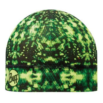 czapka do biegania BUFF MICROFIBER 1 LAYER HAT BUFF CARSON YELLOW FLUOR / 108909.117.10