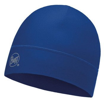 czapka do biegania BUFF MICROFIBER 1 LAYER HAT BUFF SOLID BLUE / 113246.703.10