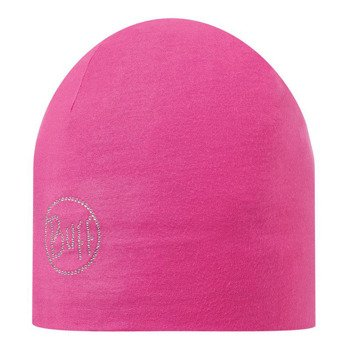 czapka do biegania BUFF MICROFIBER 2 LAYERS HAT BUFF OLID CHIC MAGENTA / 108930.535.10