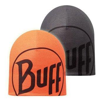 czapka dwustronna do biegania BUFF MICROFIBER REVERSIBLE HAT BUFF LOGO / 108919.901.10