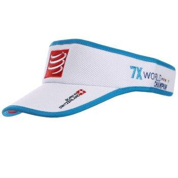 daszek biegowy COMPRESSPORT VISIOR CAP white / RACS-0018