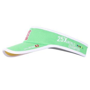 daszek biegowy COMPRESSPORT VISOR CAP GREEN CHINA ORIGIN 25XWORLD CHAMPION / RACS-0025