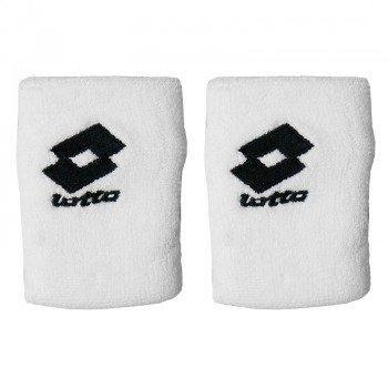 frotki tenisowe LOTTO LOGO WRIST BAND UNIKING x2 white/black