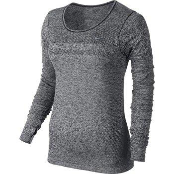 koszulka do biegania damska NIKE DRI-FIT KNIT LONGSLEEVE / 644683-010