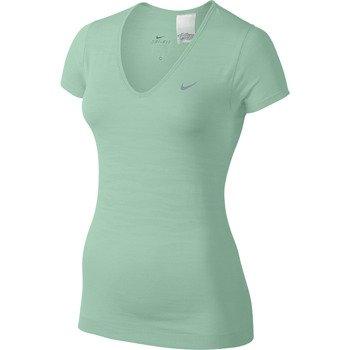 koszulka do biegania damska NIKE DRI-FIT KNIT TEXTURE V-NECK / 620982-308