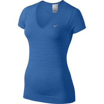 koszulka do biegania damska NIKE DRI-FIT KNIT TEXTURE V-NECK / 620982-439