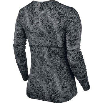 koszulka do biegania damska NIKE DRY MILER TOP LONG SLEEVE PRINT / 799562-010