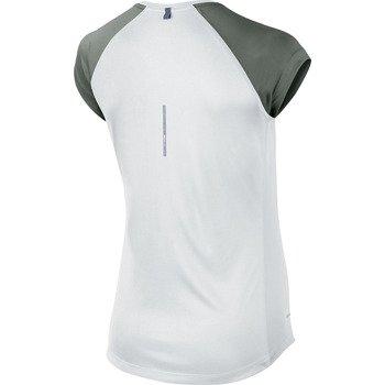 koszulka do biegania damska NIKE MILER SHORTSLEEVE V-NECK TOP / 519831-101