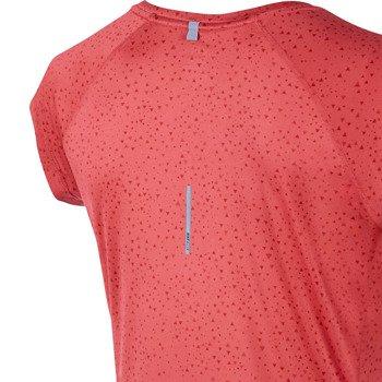 koszulka do biegania damska NIKE PRINTED MILER SHORTSLEEVE V-NECK TOP