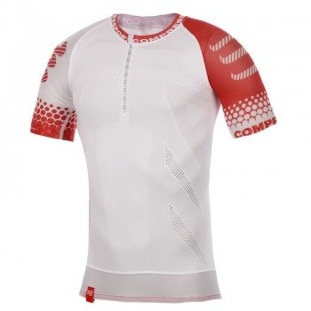 koszulka do biegania kompresyjna męska COMPRESSPORT TRAIL RUNNING SHIRT SS / 130218-068