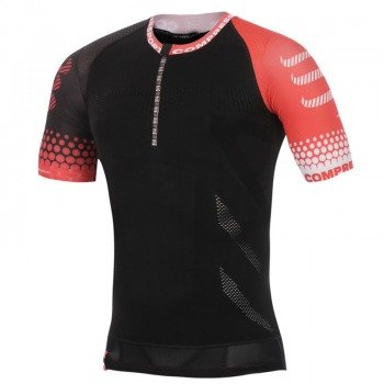 koszulka do biegania kompresyjna męska COMPRESSPORT TRAIL RUNNING SHIRT SS / TRAIL SHIRT BK