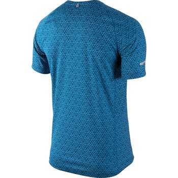 koszulka do biegania męska NIKE PRINTED MILER SHORTSLEEVE / 596205-418