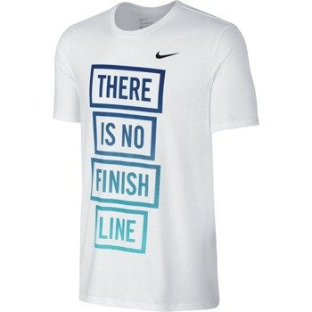 koszulka do biegania męska NIKE RUN DRI-FIT BLEND THERE IS NO FINISH LINE TEE / 778353-100