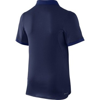 koszulka tenisowa chłopięca NIKE ADVANTAGE SOLID POLO  / 724435-410