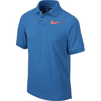 koszulka tenisowa chłopięca NIKE SHORTSLEEVE CLUB POLO / 645414-435