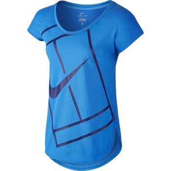 koszulka tenisowa damska NIKE PRACTICE TOP / 728752-435