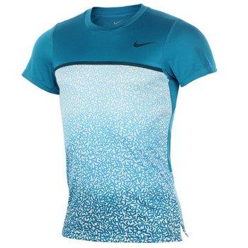 koszulka tenisowa męska NIKE CHALLENGER CREW PRINTED / 648243-413