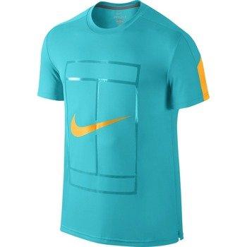 koszulka tenisowa męska NIKE COURT GRAPHIC CREW / 729262-418