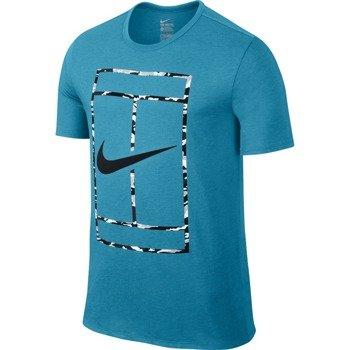 koszulka tenisowa męska NIKE COURT LOGO SHORTSLEEVE CREW TEE / 688464-407