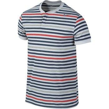 koszulka tenisowa męska NIKE DRI-FIT TOUCH STRIPE HENLEY